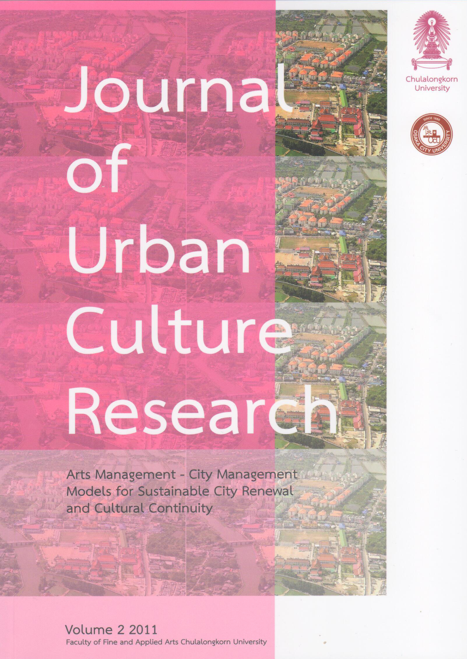 Journal of Urban Culture Research - Cover image Bangkok, Thailand provided by Alan Kinear