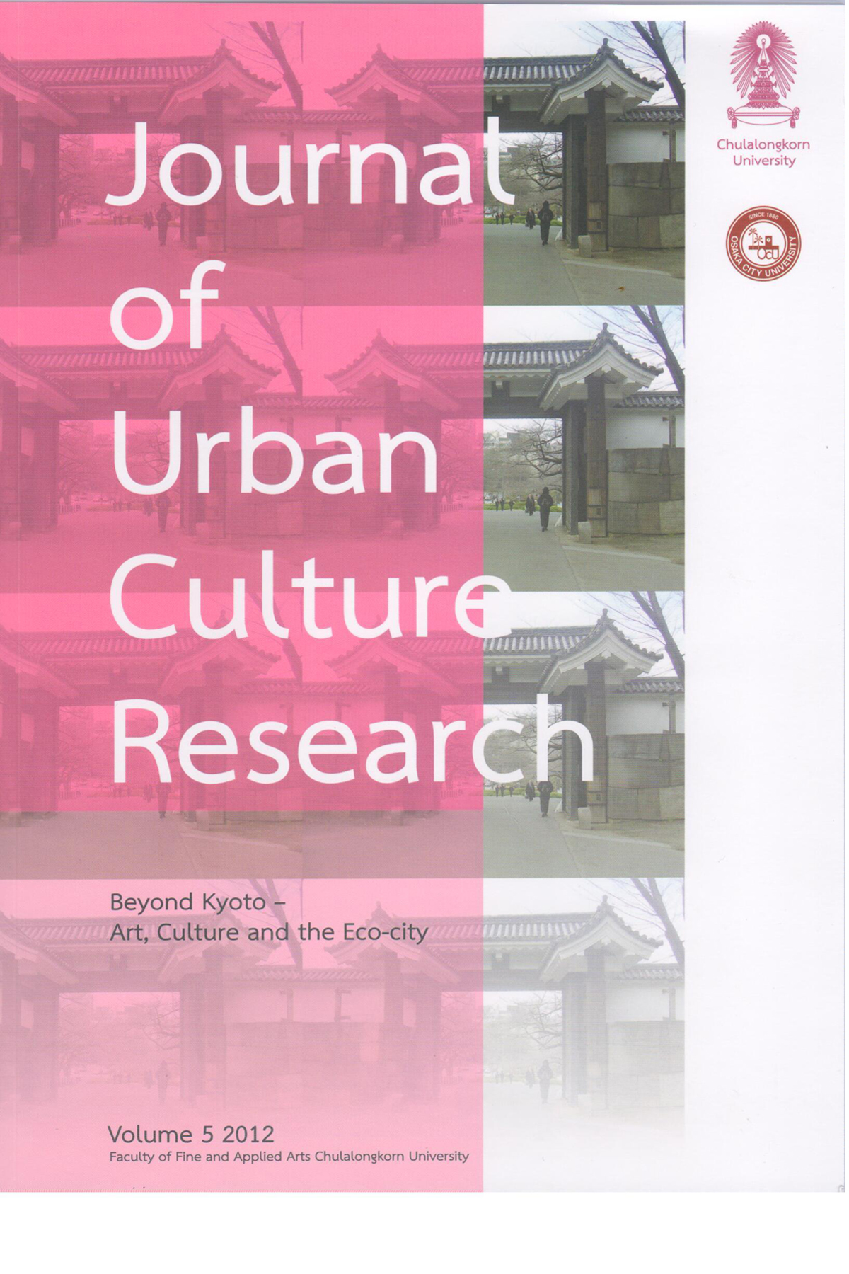 Journal of Urban Culture Research - Cover image of a gate in Tokyo, Japan was provided by Alan Kinear